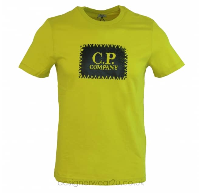 C.P Company CP Company Patch Print T-Shirt in Lime