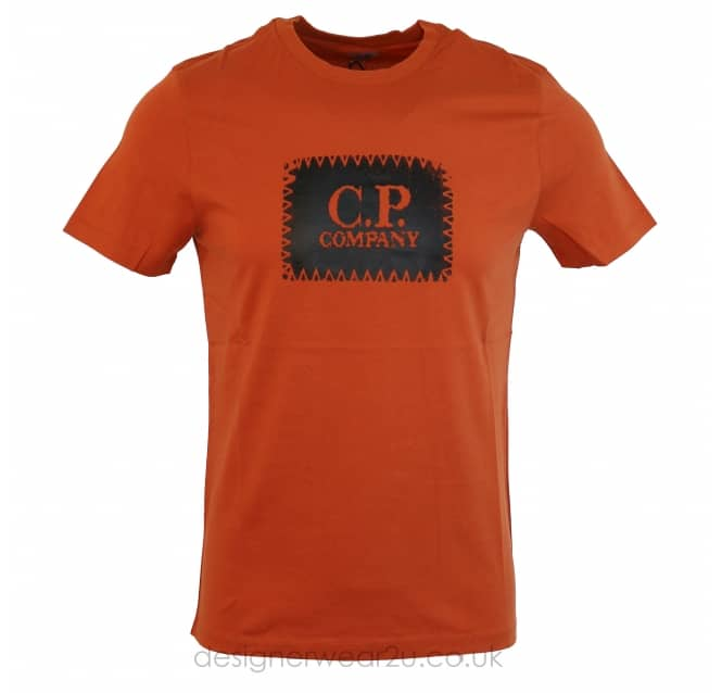 C.P Company CP Company Patch Print T-Shirt in Orange
