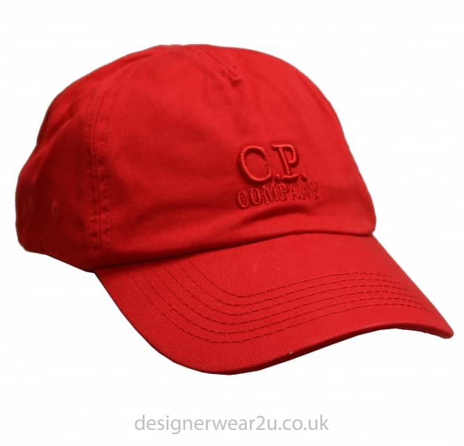 C.P Company CP Company Red Cap With Embroidered Logo