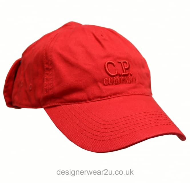 C.P Company CP Company Red Goggle Cap With Embroidered Logo