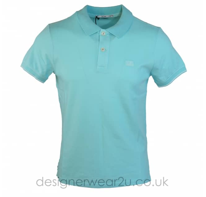 C.P Company CP Company Sky Blue Slim Fitting Tacting Polo Shirt