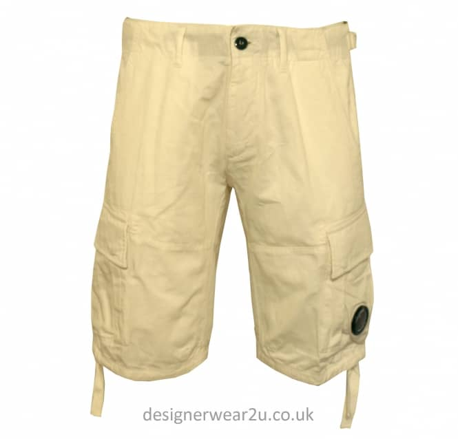 C.P Company CP Company Stone Cargo Shorts With Lens Detail