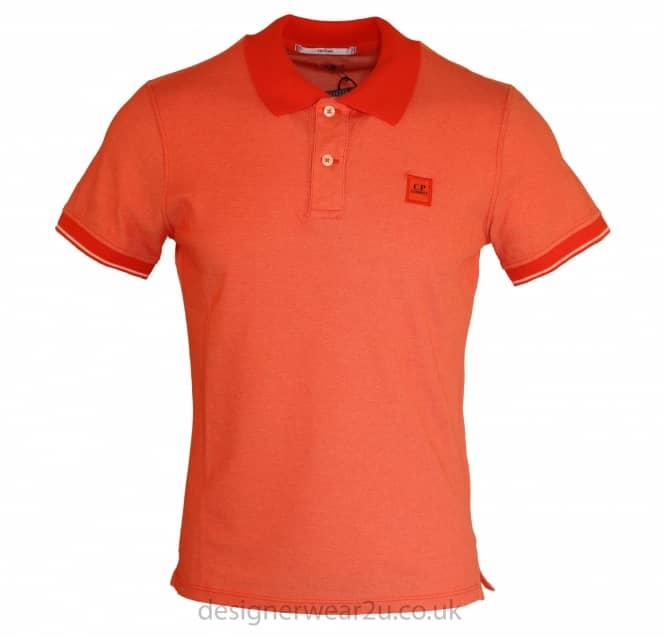 C.P Company CP Company Tacting Polo Shirt in Orange