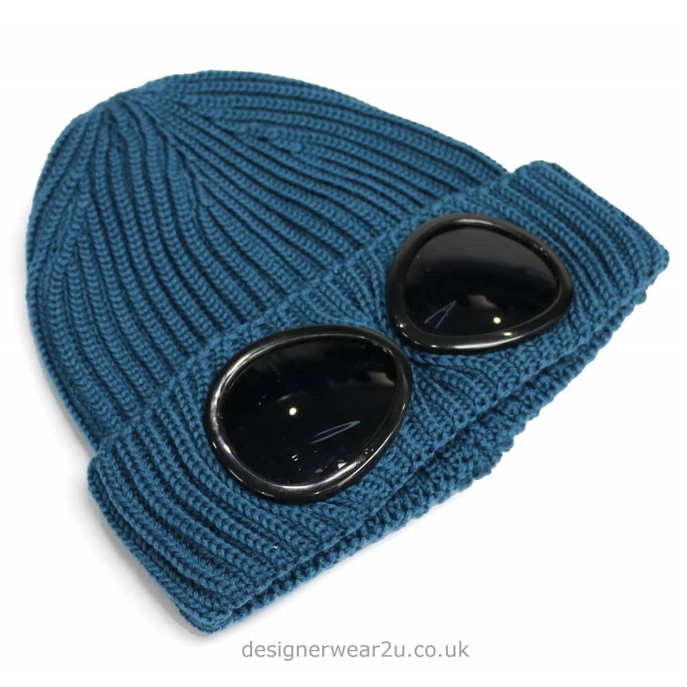 281153c4d9c C.P Company CP Company Teal Goggle Wool Beanie Hat - Headwear from ...