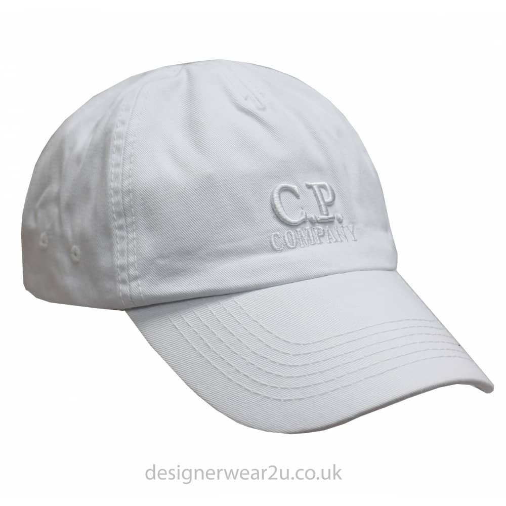 C.P Company CP Company White Cap With Embroidered Logo ...