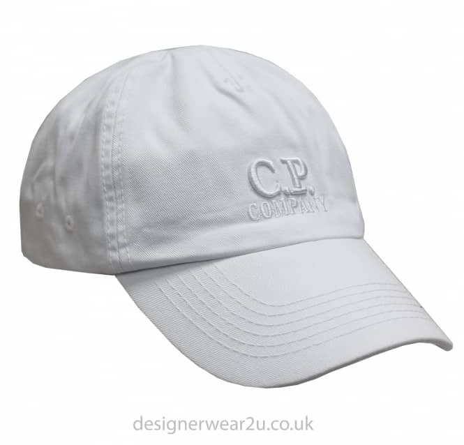 C.P Company CP Company White Cap With Embroidered Logo