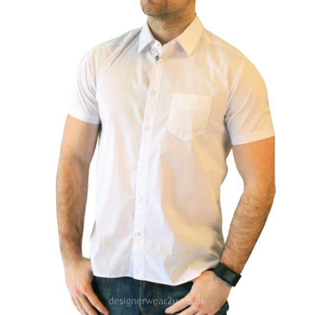 0ede725705c CP Company White Slim Fit Short Sleeved Shirt