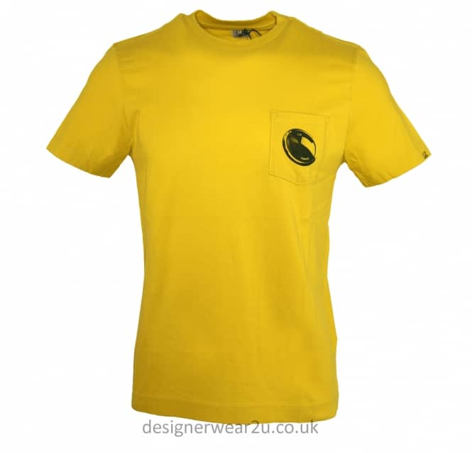 C.P Company CP Company Yellow T-Shirt With Pocket Lens Print