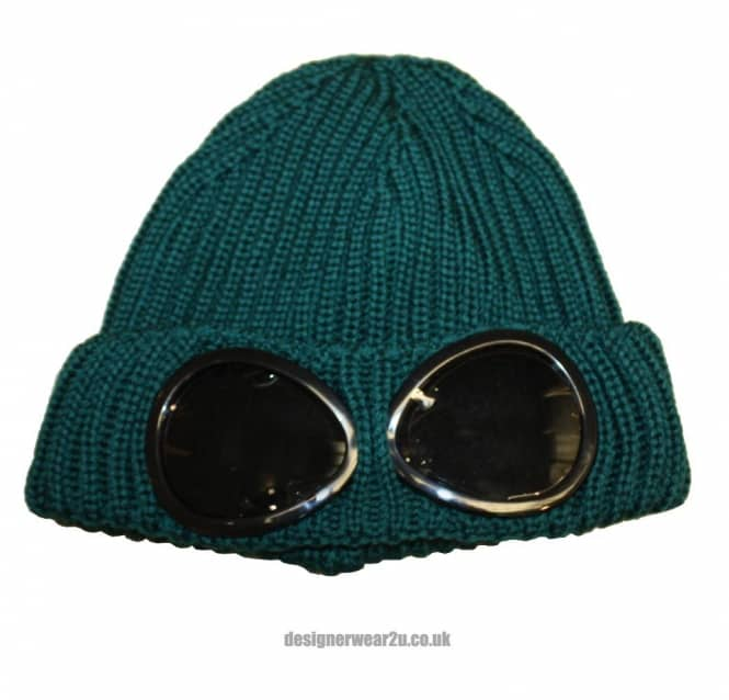 0ce64abcb03 C.P Company CP Company Green Wool Beanie Hat With Goggles - Hats ...