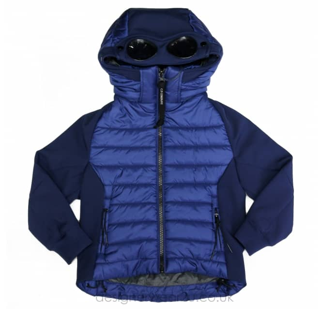 CP Company Undersixteen Kids CP Company Blue Padded Hooded Goggle Jacket