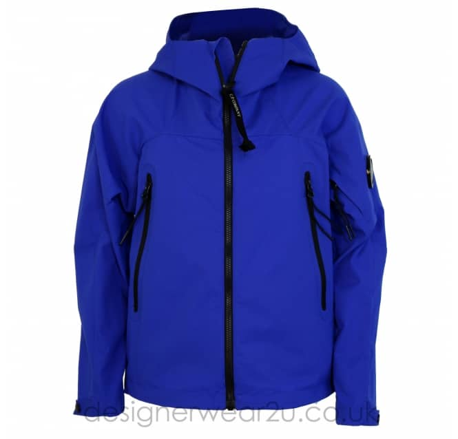CP Company Undersixteen Kids CP Company Blue Pro-Tek Jacket With Arm Lens