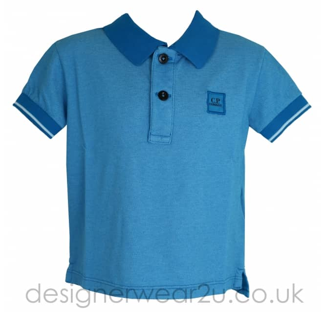 CP Company Undersixteen Kids CP Company Blue Tacting Polo