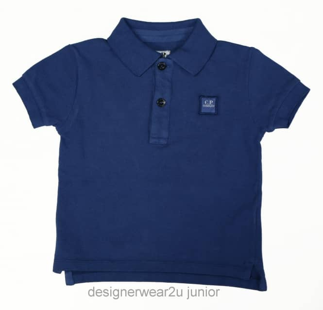 CP Company Undersixteen Kids CP Company Classic Polo Shirt in Blue