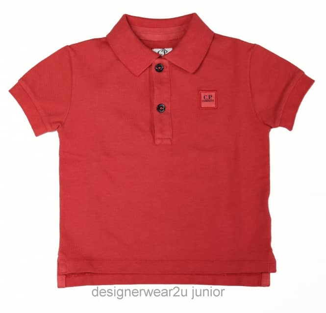 CP Company Undersixteen Kids CP Company Classic Polo Shirt in Red