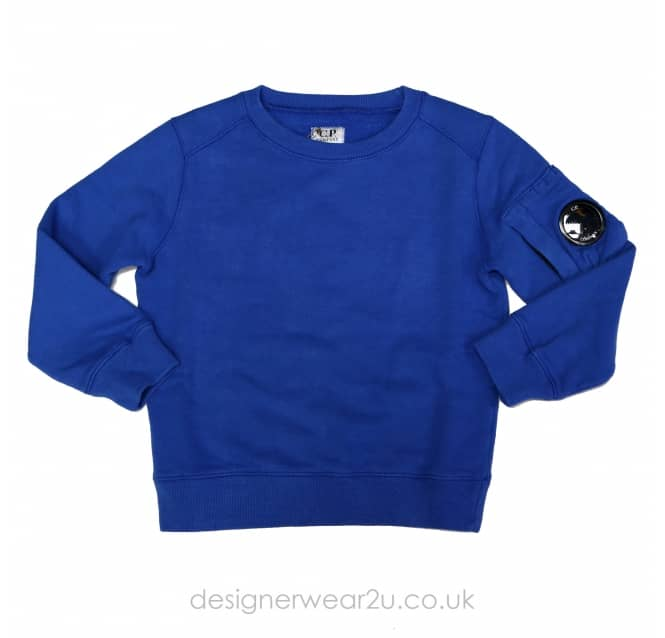 CP Company Undersixteen Kids CP Company Crewneck Lens Sweater in Blue