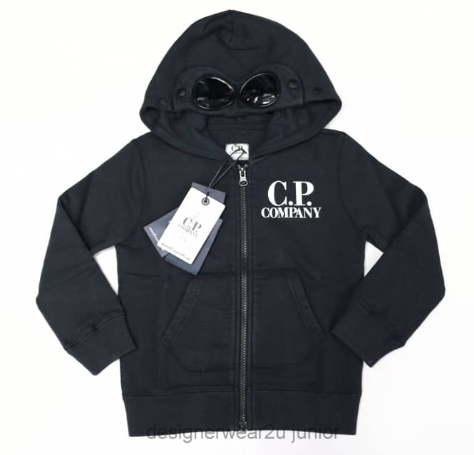 CP Company Undersixteen Kids CP Company Goggle Hooded Sweatshirt in Navy