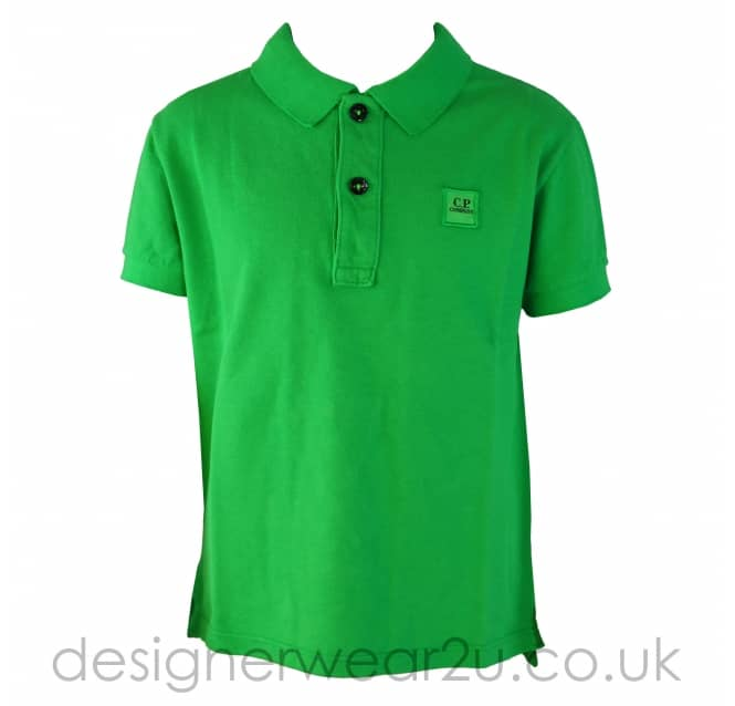 CP Company Undersixteen Kids CP Company Green Cotton Polo