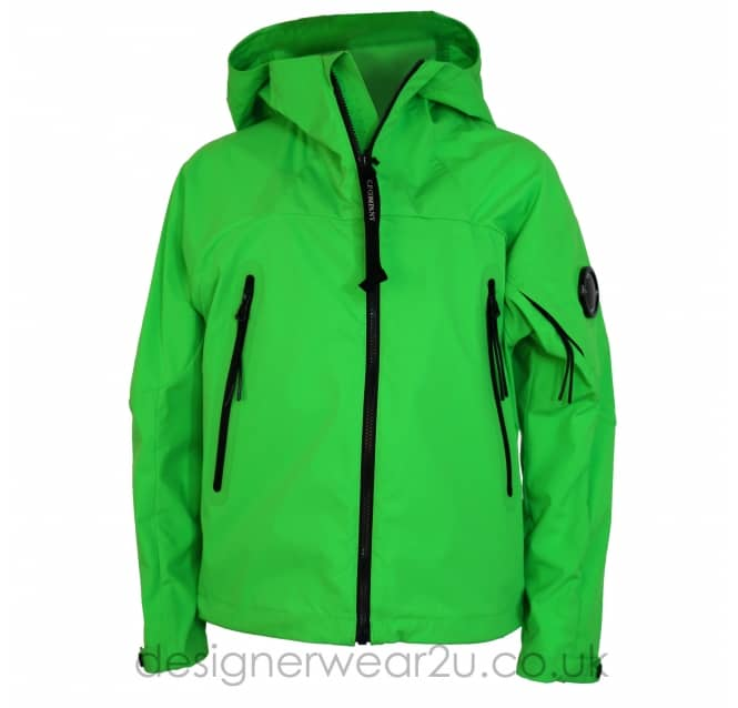 CP Company Undersixteen Kids CP Company Green Pro-Tek Jacket With Arm Lens