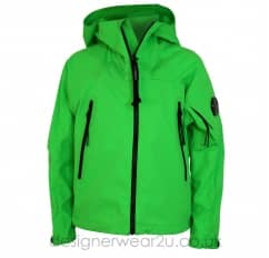 Kids CP Company Green Pro-Tek Jacket With Arm Lens