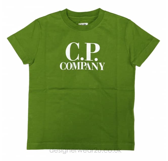 CP Company Undersixteen Kids CP Company Hood Print T-Shirt in Green