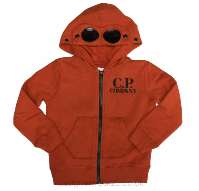 CP Company Undersixteen Kids CP Company Hooded Sweatshirt in Orange