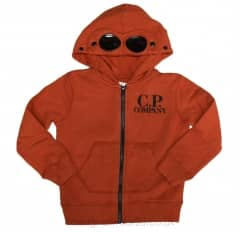 Kids CP Company Hooded Sweatshirt in Orange