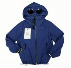 Kids CP Company Micro-M Goggle Jacket in Blue
