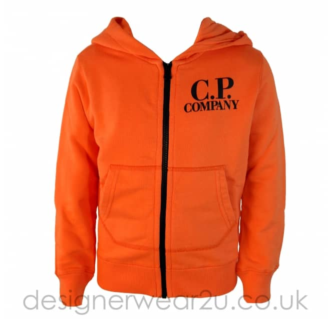 CP Company Undersixteen Kids CP Company Orange Hooded Sweatshirt With Goggles