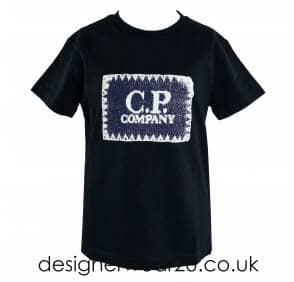 31ded43c CP Company Undersixteen Kids CP Company Cartoon Logo Print T-Shirt ...