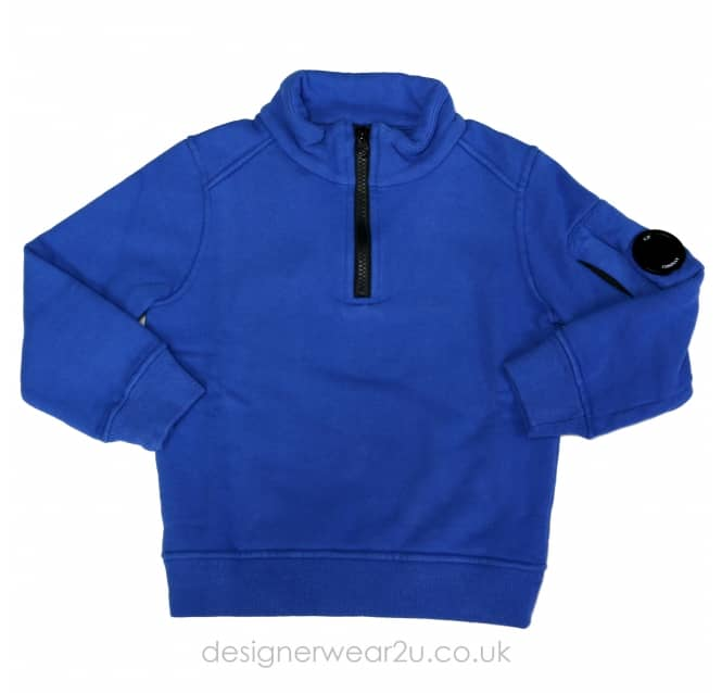 CP Company Undersixteen Kids CP Company Quarter Zipper in Blue