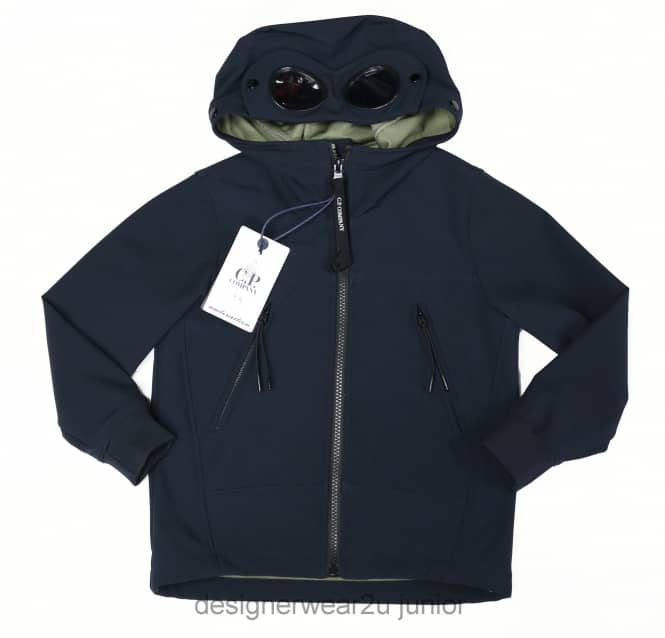 CP Company Undersixteen Kids CP Company Soft Shell Goggle Jacket in Navy