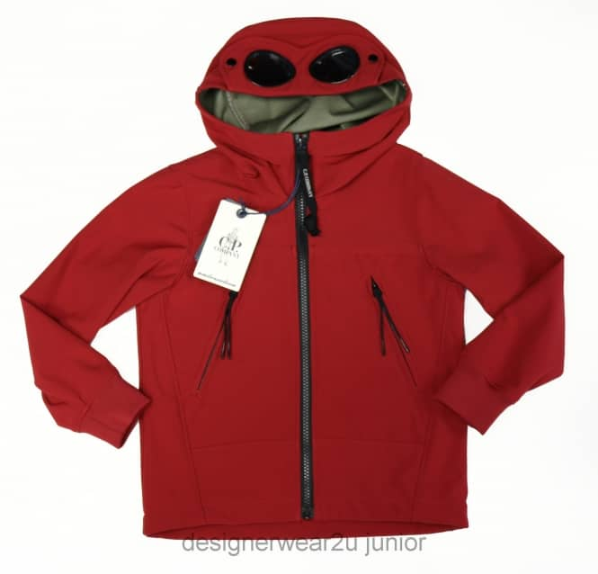 CP Company Undersixteen Kids CP Company Soft Shell Goggle Jacket in Red