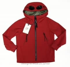 Kids CP Company Soft Shell Goggle Jacket in Red