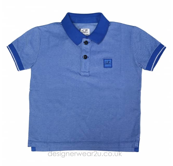 CP Company Undersixteen Kids CP Company Tacting Polo Shirt in Blue