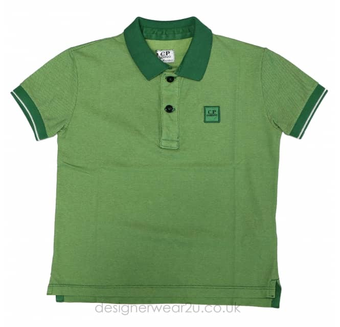 CP Company Undersixteen Kids CP Company Tacting Polo Shirt in Green