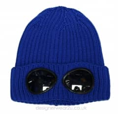 Kids CP Company Wool Goggle Beanie Hat in Blue