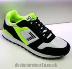 EA7 Black & Neon Trainers With Side Logo
