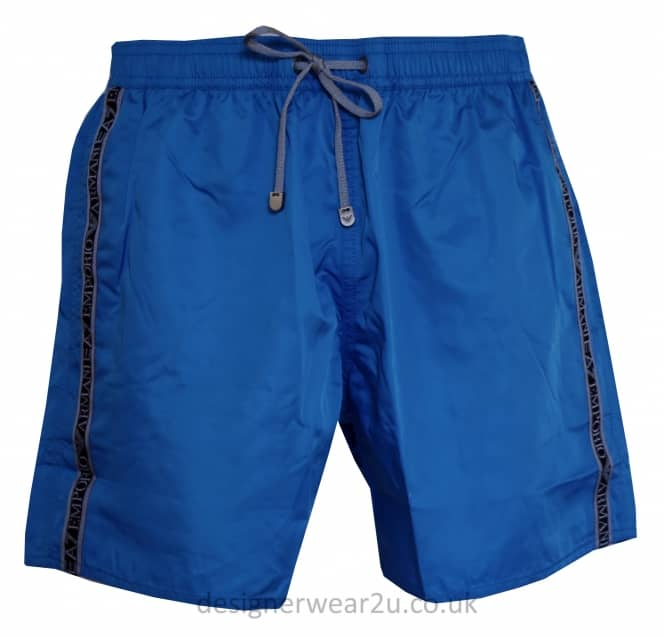EA7 EA7 Blue Sea World Shorts With Taped Side Logo