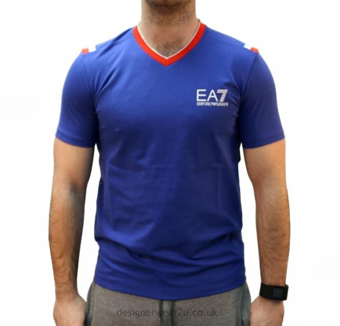 ea7 blue t shirt
