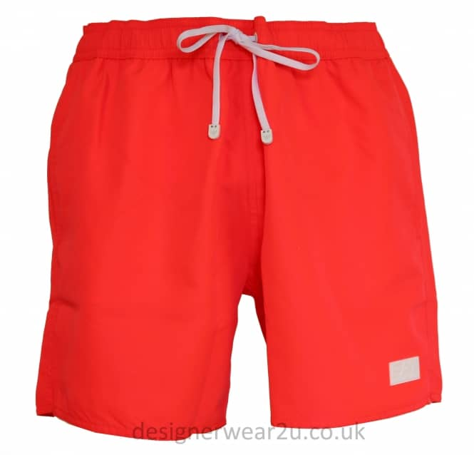 EA7 EA7 Coral Sea World Core Swim Shorts With Rubber Logo