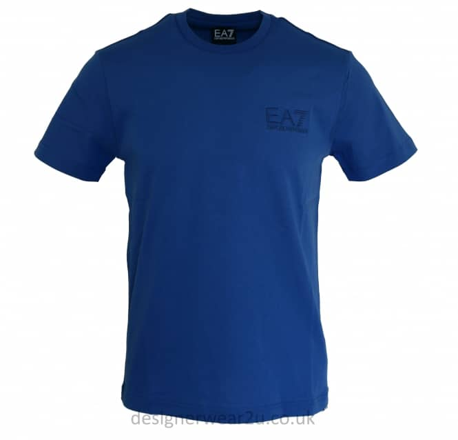 EA7 EA7 Embroidered Logo T-Shirt in Deep Blue