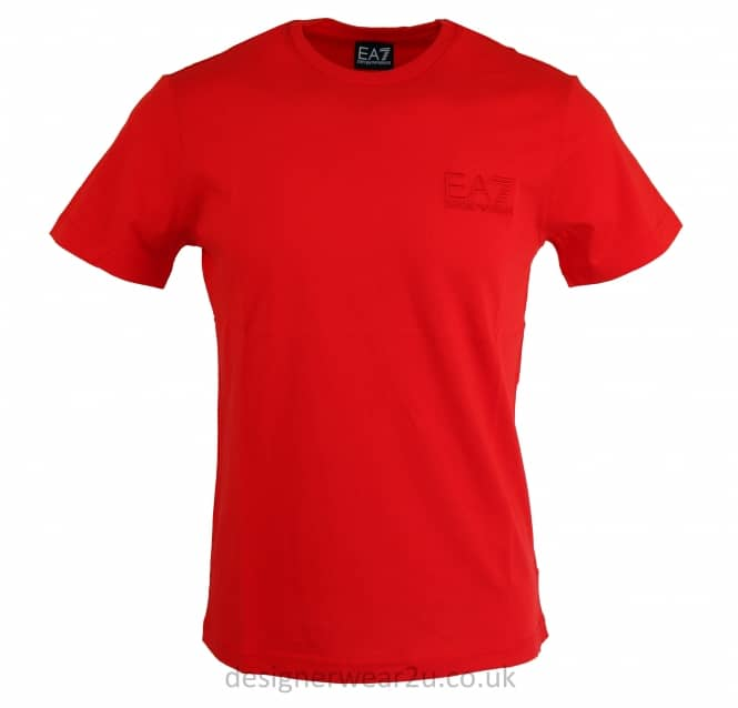 EA7 EA7 Embroidered Logo T-Shirt in Red