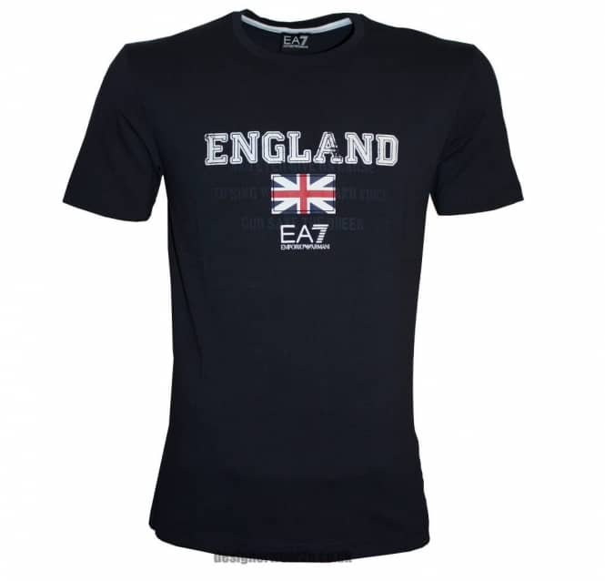 EA7 EA7 England T-Shirt With Union Flag Logo