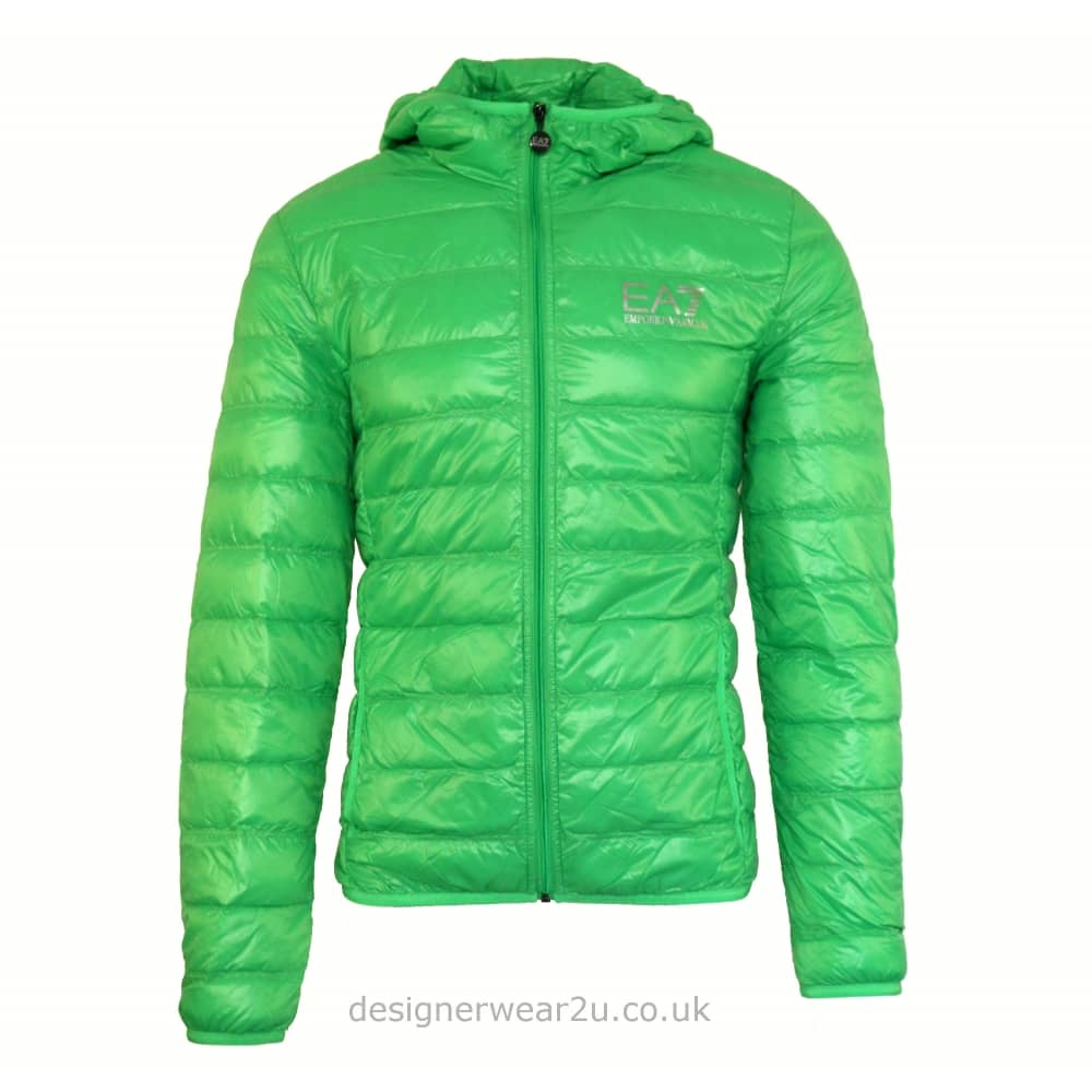 EA7 Green Lightweight Packable Hooded Down Jacket - Jackets from ... 24f7f07f0f2c