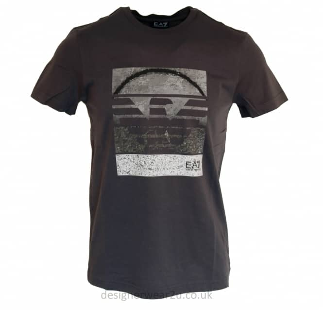 EA7 EA7 Large Armani Eagle Logo T-Shirt in Charcoal