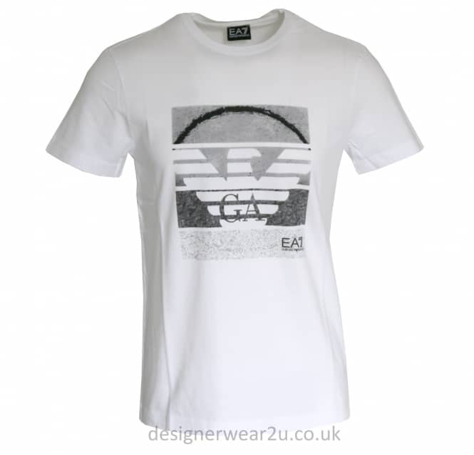 EA7 EA7 Large Armani Eagle Logo T-Shirt in White