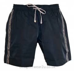 EA7 Navy Sea World Shorts With Taped Side Logo