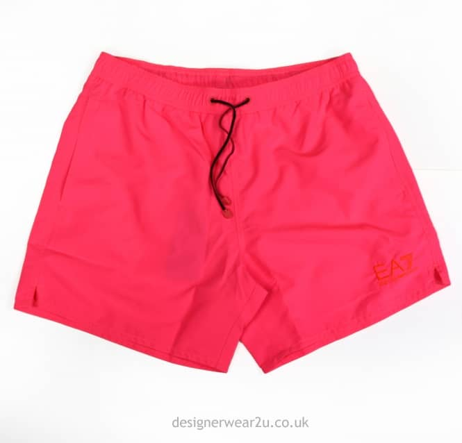 EA7 EA7 Pink Shorts With Embroidered Logo
