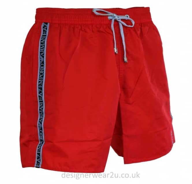 EA7 EA7 Red Sea World Shorts With Taped Side Logo