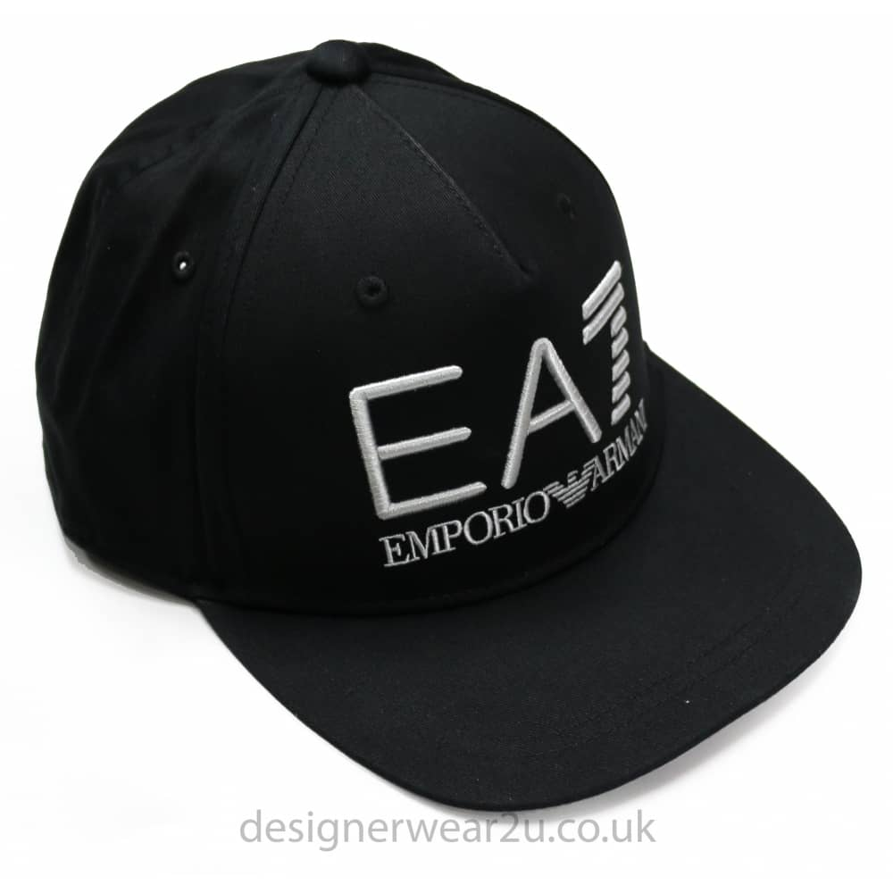 a4c1b1443f EA7 EA7 Snap Back Baseball Cap in Black